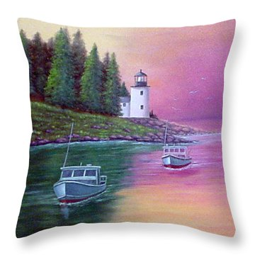 Passing The Light Throw Pillow