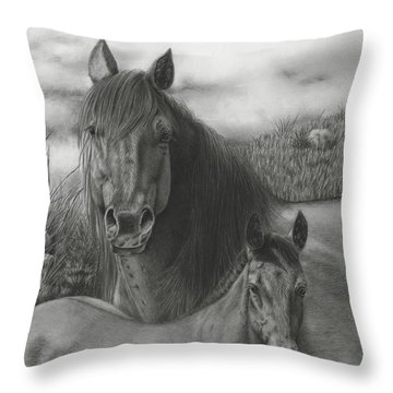 Passing The Mantel Throw Pillow