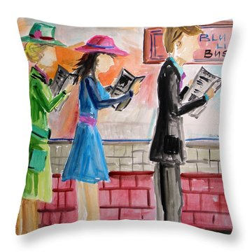 Passing The Time Throw Pillow
