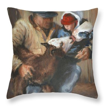 Passing The Torch Throw Pillow by Mia DeLode