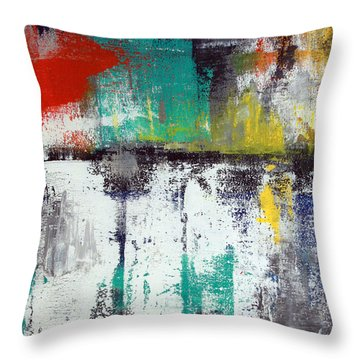 Passing Through Throw Pillow by Linda Woods