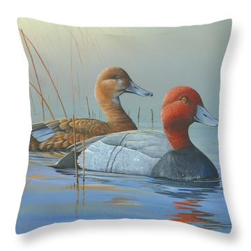 Throw Pillow featuring the painting Passing Through by Mike Brown