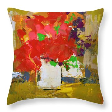 Throw Pillow featuring the painting Passion 1 by Becky Kim