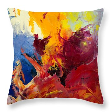 Throw Pillow featuring the painting Passion 1 by Johanna Hurmerinta