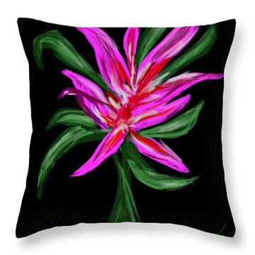Throw Pillow featuring the digital art Passion Flower by Christine Fournier