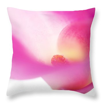 Passion For Flowers. Pink Veil Throw Pillow