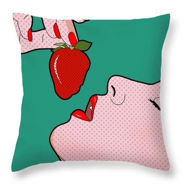 Passion Fruit   Throw Pillow by Mark Ashkenazi
