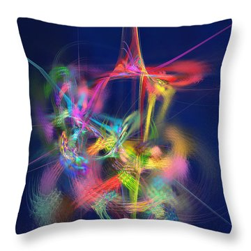 Passion Nectar - Circling The Flower Of Paradise Throw Pillow by Menega Sabidussi