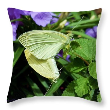 Passion Of The Butterflies Throw Pillow by Robert ONeil