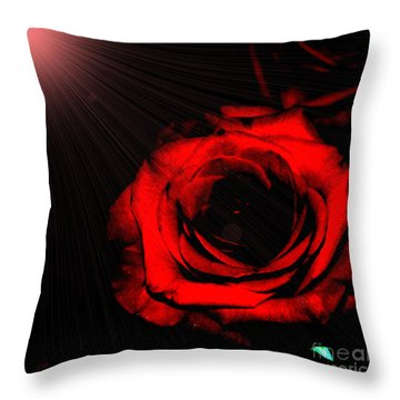 Passion. Red Rose Throw Pillow