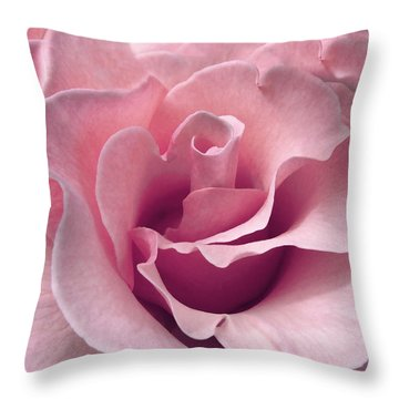 Passion Pink Rose Flower Throw Pillow
