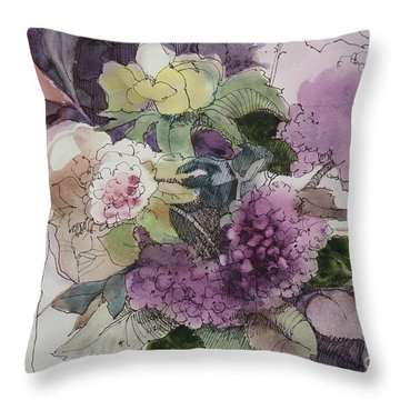 Passionate About Purple Throw Pillow by Elizabeth Carr