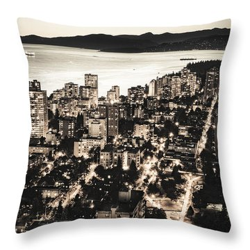 Passionate English Bay Mccclxxviii Throw Pillow by Amyn Nasser