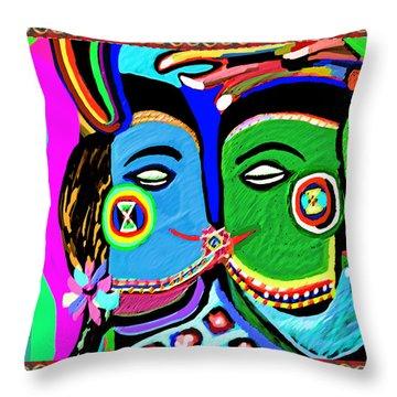Passionate Kiss Kamasutra Khajuraho India Cave Style Art Navinjoshi Rights Managed Images Graphic De Throw Pillow
