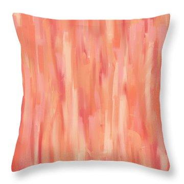 Passionate Peach Throw Pillow