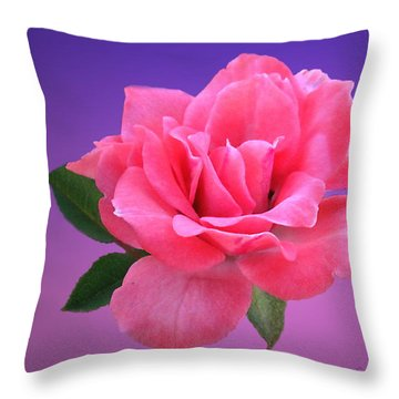 Throw Pillow featuring the photograph Passionate Pink by Joyce Dickens