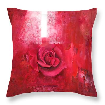 Throw Pillow featuring the painting Passionately - Original Art For Home And Office by Brooks Garten Hauschild