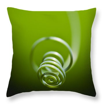 Passionflower Tendril Throw Pillow