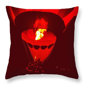 Passion's Flame Throw Pillow