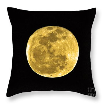 Passover Full Moon Throw Pillow by Al Powell Photography USA