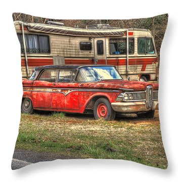Past American Dream Throw Pillow by Dan Friend