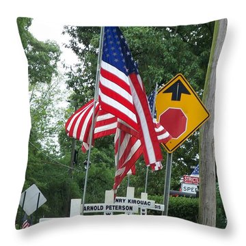 Past Heros Throw Pillow
