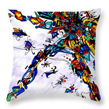 Past Meets Present Throw Pillow