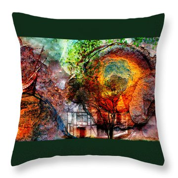 Past Or Future? Throw Pillow