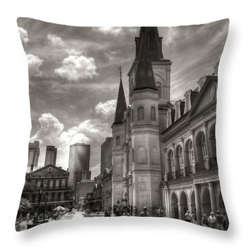 Past Present Future In Black And White Throw Pillow by Greg and Chrystal Mimbs
