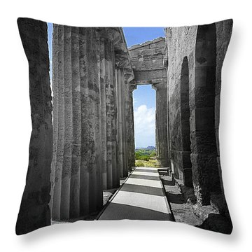 Past Present Throw Pillow by Madeline Ellis