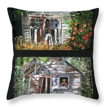 Throw Pillow featuring the painting Past Prime  by LaVonne Hand