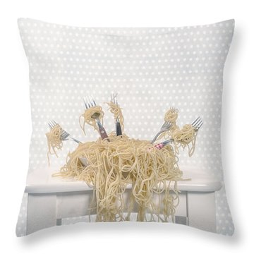 Pasta For Five Throw Pillow by Joana Kruse
