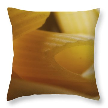 Pasta Macro Throw Pillow