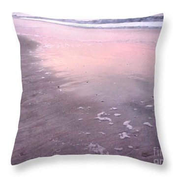 Pastel Beach Throw Pillow