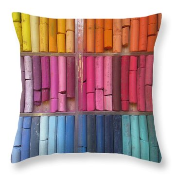Pastel Color Throw Pillow by Alfred Ng