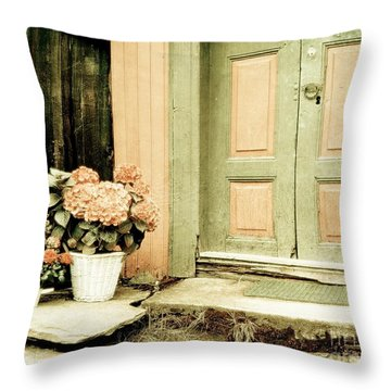 Pastel Colored Doorstep Throw Pillow