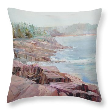 Pastel Cove Throw Pillow