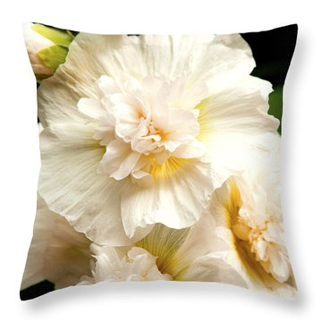 Pastel Delphinium Throw Pillow by Jerry Cowart