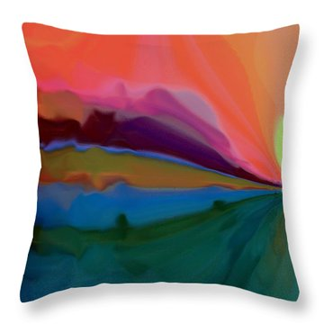 Pastel Dusk Throw Pillow