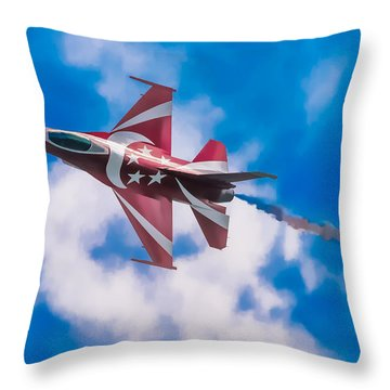 Pastel F-16 Throw Pillow