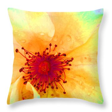 Pastel Garden Throw Pillow