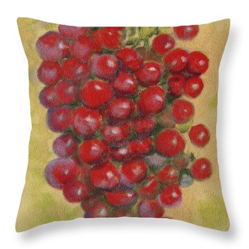 Pastel Grapes Throw Pillow
