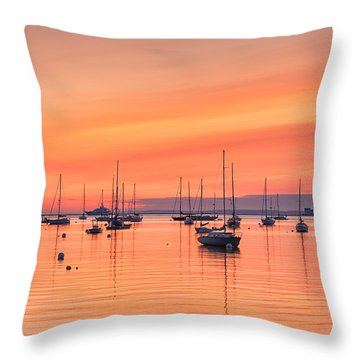 Pastel Harbor Throw Pillow