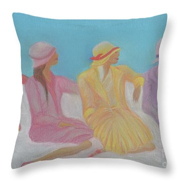 Pastel Hats By Jrr Throw Pillow by First Star Art