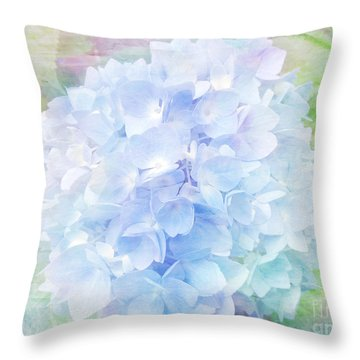 Pastel Hyacinth Throw Pillow