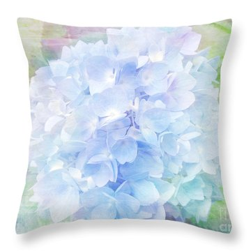 Pastel Hyacinth Throw Pillow
