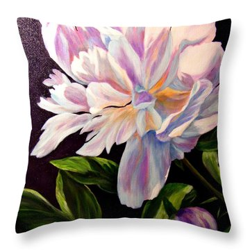 Pastel Peony Throw Pillow