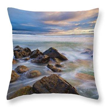 Pastel Sea Throw Pillow