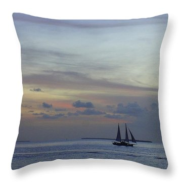 Throw Pillow featuring the photograph Pastel Sky by Laurie Perry