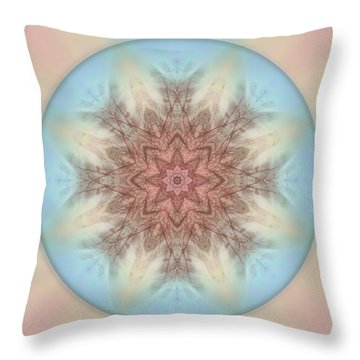 Pastel Sky Mandala Throw Pillow